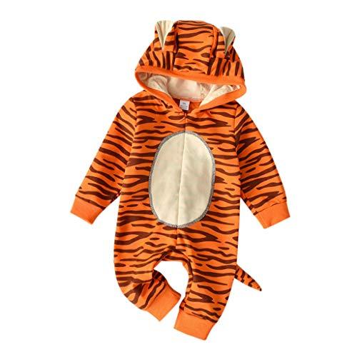 Baby Tragen Halloween Papa - bobo4818 Babys Karikatur Schlafanzug Tiger Strampelanzug