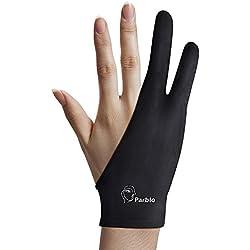 Parblo PR-01 Gant À Deux Doigts pour Graphiques Dessin Tablette Lumineuse Traçage Lumière Pad Gant Anti-fouling