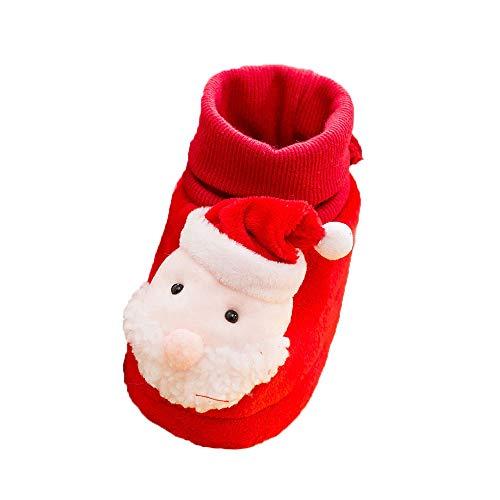 (Beikoard Baby Kleinkind Schuhe Baby Jungen Mädchen Weihnachtsmann Schneemann Elch beschuht Kleinkind Schuhe Gleitschutzschuhe Winter warme Schuhe)