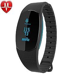 Willful Bracelet Connecté Montre Cardio Fitness Tracker d'Activité avec Cardiofrequencemetre Tension Artérielle Sommeil Podomètre Appelez la notification par SMS pour iPhone Android Femme Homme