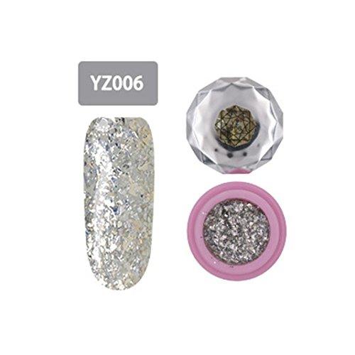 2018 Nagel-Kunst-Gel,Jaminy Che Gel Nagel Uv Gel Politur Absaugen Leim Nagel Öl Nail Art Decklack Silber Diamant Farbe Gel (F) Nail Schellack Politur