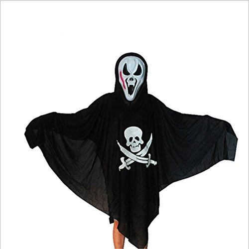Für Herren Kostüm Karibik Pirat Erwachsene - BESTOYARD Halloween Geist Kostüm Kostüm Karibik Piraten Kleidung Cosplay Kostüm Set (schwarz)