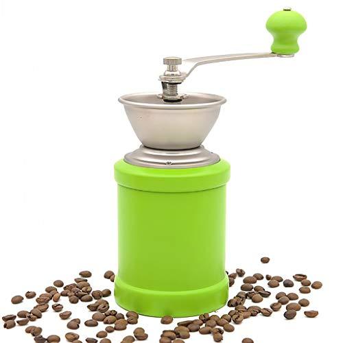 SDKF Manuelle Kaffeemühle Kaffeebohnenmühle Retro Grinder 4 Farben, 94 * 94 * 190mm (Farbe : D)