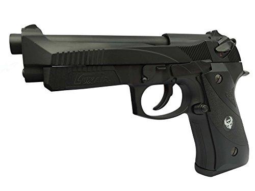 HFC HG192 Softair Pistole CO2 oder Gas Version, Stil M92 SSL, max 0.5 Joules, GRATIS 2000 BULLDOG BBS 0.20G+GRATIS PISTOLEN KOFFER (Co2) (Metall M92)