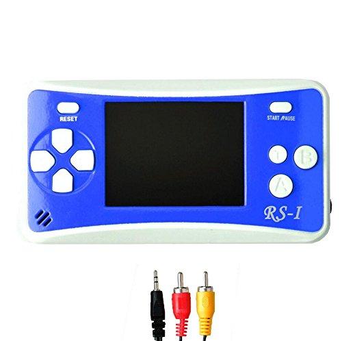 "Consola de juegos de mano, SZZHCKJ 2.5 ""color de pantalla retro consola portátil de mano de video consola construido en 162 juegos (azul)"