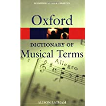 Oxford Dictionary of Musical Terms (Oxford Quick Reference)
