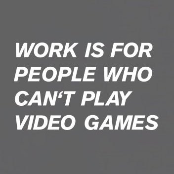 TEXLAB - Work is for people who can't play Video Games - Herren T-Shirt Orange