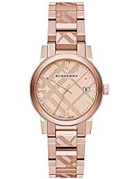 92e8378072061 Burberry BU9235 26mm Gold Plated Stainless Steel Case Rose Gold Gold Plated  Stainless Steel Synthetic Sapphire