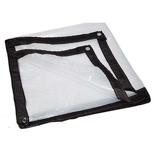 Uus LHYY Sombreado Protector Solar Plegable Transparente A Prueba De Lluvia De Sombreado Neto De La Sombrilla con El Polietileno del Agujero del Metal, Tamaño 22 YUBU (Color : Claro, Tamaño : 2 x 5m)