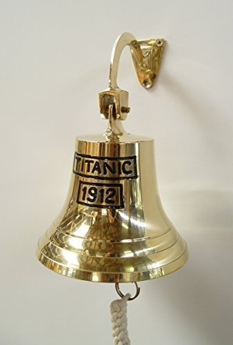 Antike Schiff Glocke (Türglocke Wandglocke Glocke Schiffsglocke Titanic Bootsglocke Antik Stil H 11 cm)