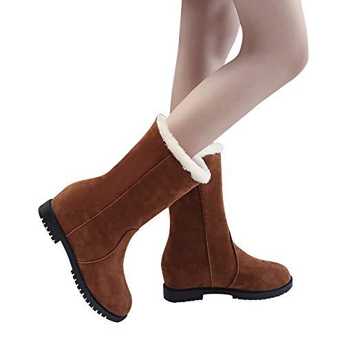 TianWlio Stiefeletten Boots Stiefel Schuhe Damen Herren Herbst Winter Schnee Flache Stiefeletten Zipper Wasserdicht Draussen Warmer Stiefel Worker Boots Gefüttert Bequeme Schuhe