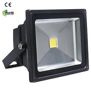 Auralum 50W Black IP65 LED Waterproof Energy Saving Floodlight High Power White(6000K) Outdoor Spotlight