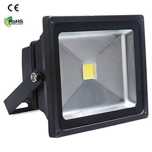 Auralum 50W LED Außenstrahler Fluter Flutlichtstrahler, 4500 Lumen 230V IP65 Wasserdicht 6000K Kaltweiß, 10 Jahre Garantie