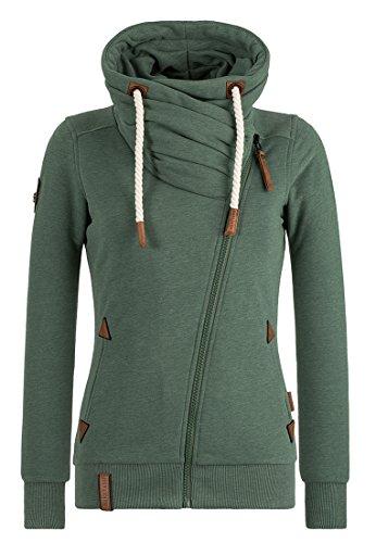 Naketano Female Zipped Jacket Jedi Path Pine Green Melange, XS (Green Pine Bekleidung)