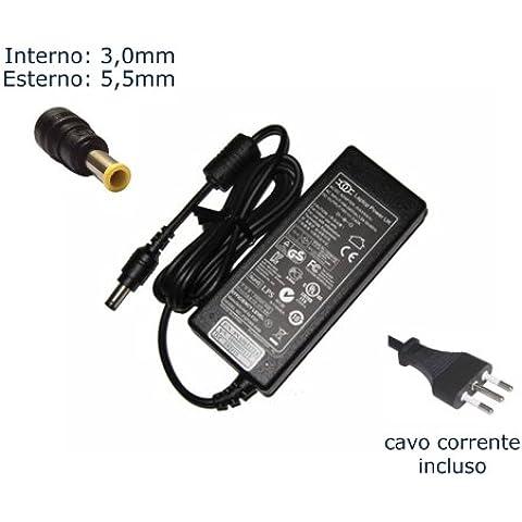 Caricatore per laptop per White Ac Adapter for Samsung N110 N120 N130 N135 N140 N150 N150p N210 N220 N220p N230 N310 N315 N510 Nc10 Nc20 Nb30 Nb30p Nf210 Nf310 ; Aa-pa2n40w Ad39-00028a Np-nc10 19v 2.1a 40w Power Cord Netbook/laptop Battery Charger Plug adattatore, caricabatterie, alimentatore, alimentazione elettrica, notebook, PC Portatile adattatore CA - Marca
