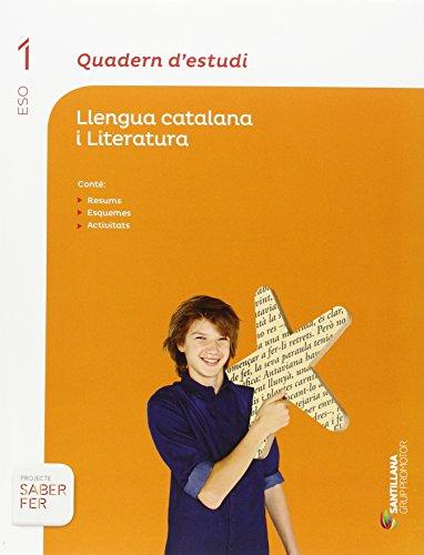 QUADERN D'ESTUDI LLENGUA CATALANA I LITERATURA 1 ESO SABER FER - 9788490475577
