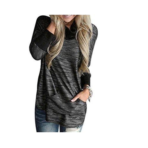 Koly_Maglia a manica lunga T-shirt Felpa Jumper Pullover (S)