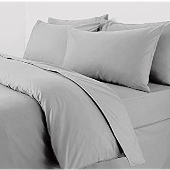 Merveilleux Plain Duvet Cover With Pillow Cases Non Iron Percale Quilt Cover Bedding  Bedroom Set (Double