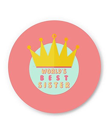 World's Best Sister Rakhi Gift Fridge Magnet | rakhi gifts for sister| Rakshabandhan gift for your beloved sister | Gifts for sister | rakshabandhan Gift | Special gifts for sister | Unique gift for sister | rakhi present for sister |  available at amazon for Rs.199