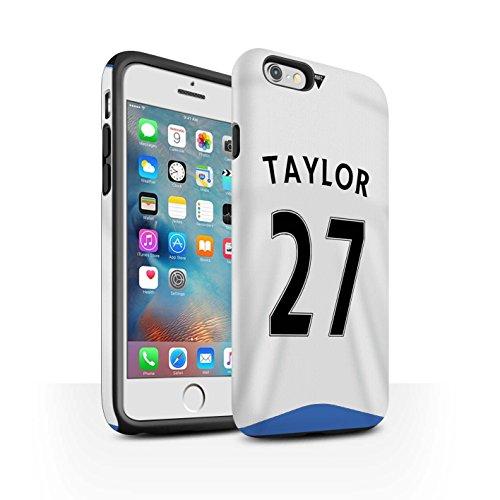 Offiziell Newcastle United FC Hülle / Matte Harten Stoßfest Case für Apple iPhone 6+/Plus 5.5 / Pack 29pcs Muster / NUFC Trikot Home 15/16 Kollektion Taylor