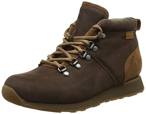 El Naturalista Nd62 Pleasant-Lux Suede Walky, Scarpe da Ginnastica Alte Unisex - Adulto, Marrone (Brown-Wood Nnl), 40 EU