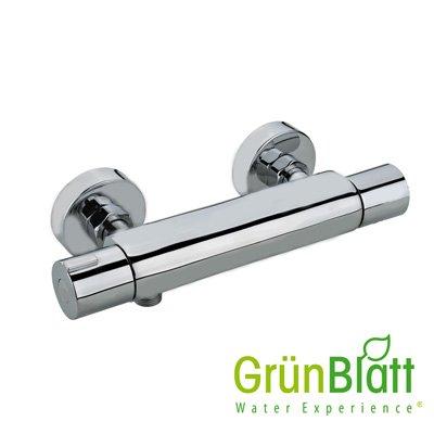 Thermostat Bad Armatur Duscharmatur Wasserhahn Brausearmatur Grünblatt