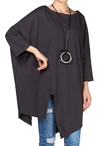 Plus Size Pullover - Vogstyle Damen Rundhals Unifarben 3/4 Arm