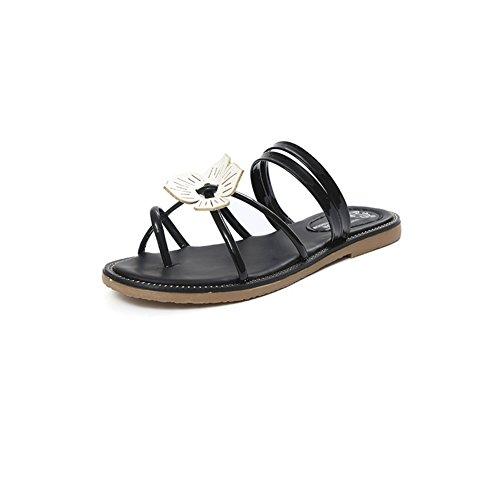 Printemps/Eté fashion Lady-orteil/talons bas open toe shoes/La version coréenne de chaussures plates/simple Joker A