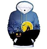 Cardith Halloween Grafik Hoodie, Hoodie 3D Kapuzenpulli Herren Damen Lustige Gedruckte Graphic Pullover Hoodies Sweatshirts Drawstring Taschen mit Samt Plus Futter