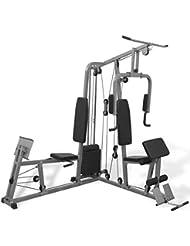 vidaXL Gimnasio Multiestación para Casa Maquina de Musculación Fitness Pesas