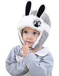 Bonnet Bébé, 2PC Cheveux Chapeau Casque Enfant Imprimer Bonnet écharpe  Laine Ensemble Solide, Automne 0fef5ace955
