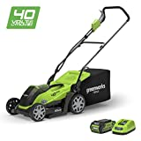 "Best Electric Lawn Mower Cordlesses - Greenworks 40V Cordless Lawn Mower 35cm (14"") Review"