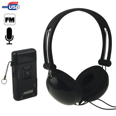 Wired Headphones Stereo Headset - Over Ear - With A650 USB Magic Sound Virtual Wireless DJ FM Radio, Support Microphone - Sound