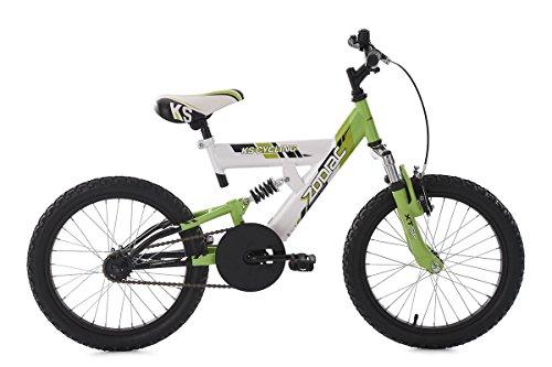 KS Cycling Kinder Kinderfahrad Zodiac Fahrrad, weiß/Grün, 18 Zoll