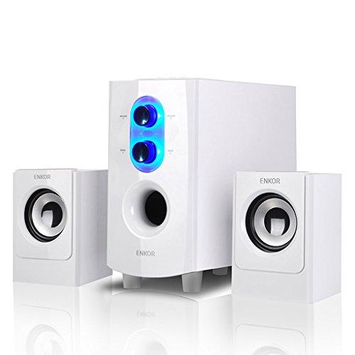 sprecher- Bluetooth Desktop Computer Lautsprecher Notebooks Home Audio Subwoofer (Color : Weiß) Home-audio-subwoofer