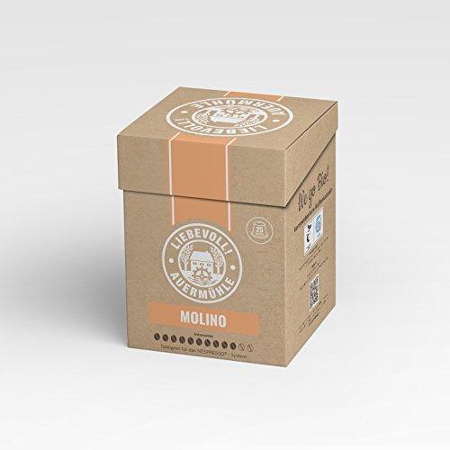 """BIO Nespresso® kompatible Kaffeekapseln, 25 Stück, 100% kompostierbar,""""MOLINO"""" Espresso (ausgezeichnet mit der Bronzemedaille der Deutschen Röstergilde e.V.)"""