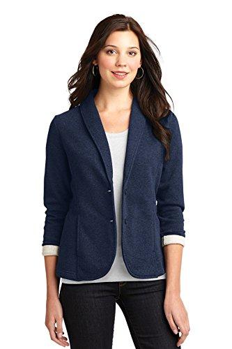 port-authority-ladies-fleece-blazer-l298-navy-heather-l298-2xl
