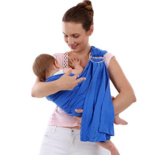 VENMO Baby Wrap Sling Neugeborene Stretchy Kleinkind Stillen Breathable Carrier Stretch Jungen Mädchen Baby Fotografie Requisiten Wickeln Garn Tuch Decke Neugeborenes Baby Fotografie Foto Requisiten (Blue) (Geraffte Wrap)
