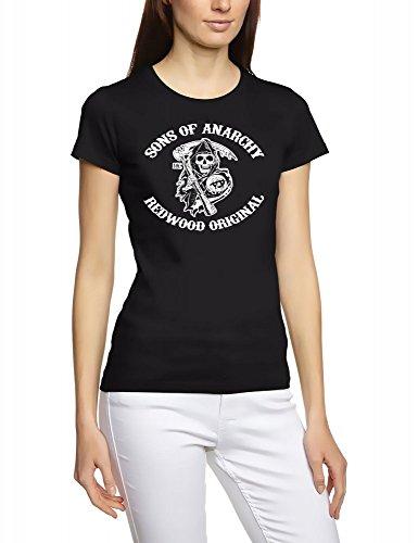 Coole-Fun-T-Shirts Sons of Anarchy Redwood Samcro. Camiseta de Black S–XXXL