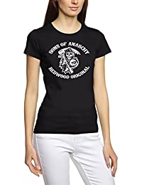 Sons of anarchy redwood sAMCRO t-shirt-homme-noir