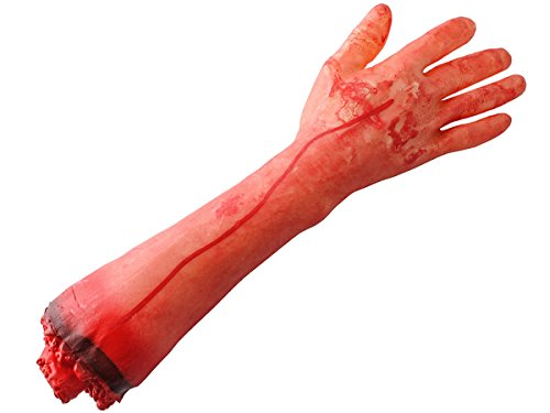 Iso Trade Halloween Grusel Dekoration abgetrennter Körperteil blutiger Arm Hand #4346