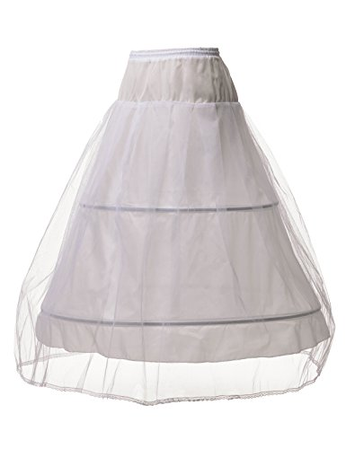 Alicepub Ringe Reifrock Weiß/Schwarz Petticoat Hochzeit Damen Unterrock A-Linie, Weiß, (Petticoat Slip Krinoline Kostüme)