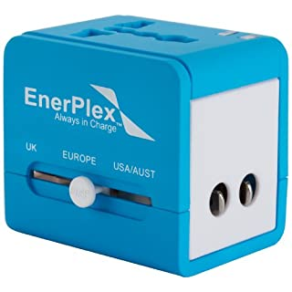 Ascent EnerPlex Travel Adapter blau Dual USB 5V/2,1A Reise-Adapter-Netzteil