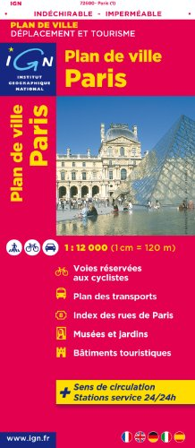 72600 PLAN DE PARIS (INDECHIRABLE) 1/12.000 par IGN