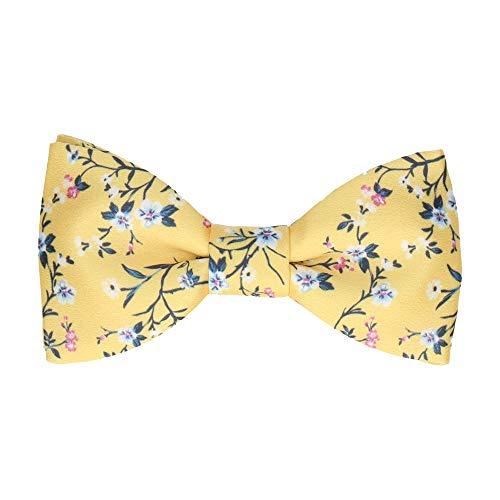 Mrs Bow Tie Odessa Floral Fliege, Selbstbinde - Gelb