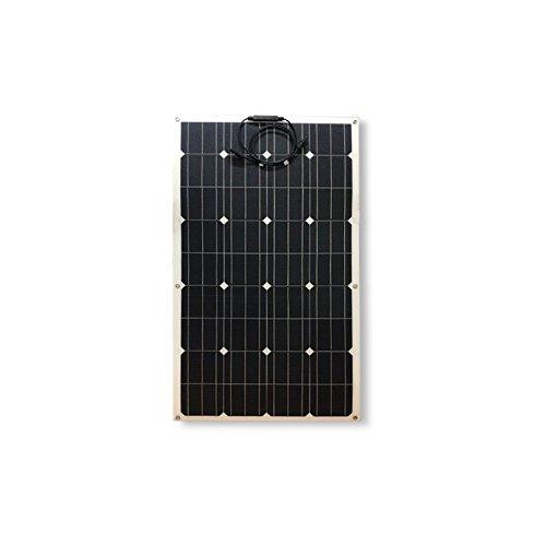 Panel solar fotovoltaico semiflessibile también en silicio monocristallino de alta eficiencia, fiable y resistente, ideal para condiciones ambientales extremas