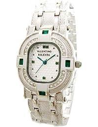 VALENTINO ROLENTADOR - Reloj de pulsera con gema de esmeralda de metal, con papel,