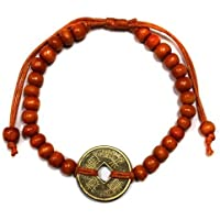 Orange Bali Viel glück Feng-Shui Armband mit Chinesisch Talisman münze of Glück & vermögen preisvergleich bei billige-tabletten.eu
