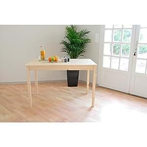 KIEFER Table a manger 112 cm pin naturel