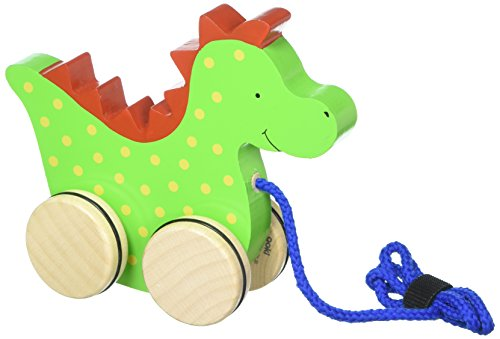 Gollnest & Kiesel 54954 - Juguete con Cuerda y Ruedas para Arrastrar, diseño de dragón